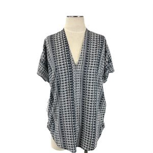 Philosophy- Gray & White Abstract Stripe Top Small